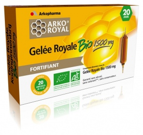 Illustration Arko royal gelée royale 1500mg bio - 10 ampoules