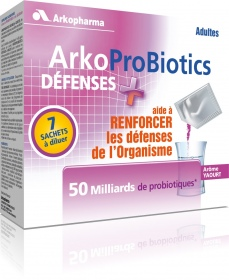 Illustration Arkoprobiotics défenses + adultes boite de 7 sachets