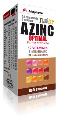 Arkopharma - Azinc optimal junior goût chocolat 30 comprimés