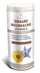 Illustration Onagre, Bourrache et Vitamine E Capital Hydratation - 150 capsules