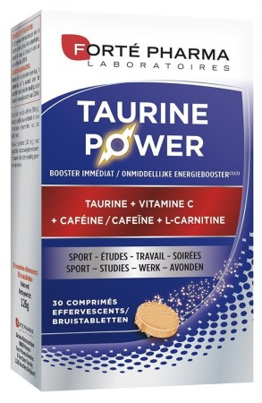 Illustration Energie Taurine Power 30 Comprimés