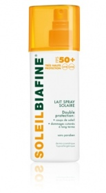 Illustration SoleilBiafine Lait Spray Solaire SPF50+ 200ml