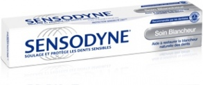 Illustration Protection Sensibilité 24H Dentifrice Sensodyne Soin Blancheur 75ml