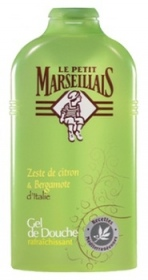 Illustration Douches Soins Gel Au Zeste De Citron Et Bergamote D'Italie 250 ml