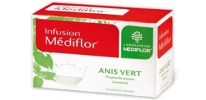 Illustration Infusions Médiflor Anis Vert 24 Sachets
