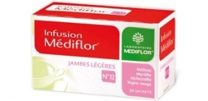 Illustration Infusions Médiflor N°12 Jambes Légeres 24 Sachets
