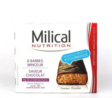 Milical - Hyperprot�in�e Barres Hyperprot�in�es Chocolat 162g