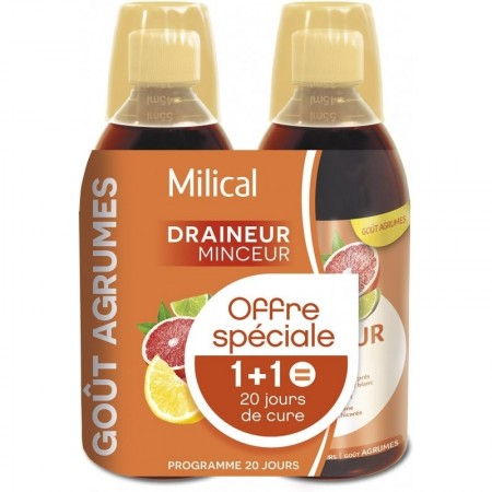 Illustration Draineurs Drainaligne Agrumes Lot De 2 x 500 ml