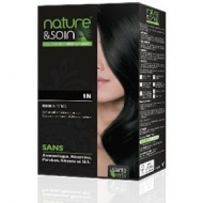 Illustration Soin Des Cheveux  Nature & Soin - Colorations permanentes 1N Noir Intense