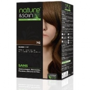 Illustration Soin Des Cheveux  Nature & Soin - Colorations Permanentes 7G Blond Doré