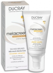 Illustration Taches Brunes Melascreen Photoprotection Crème Légère SPF50+ UVA  40 ml