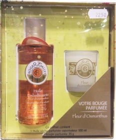 coffret cadeau no l fleur d 39 osmanthus huile s che bougie de roger gallet sur 1001pharmacies. Black Bedroom Furniture Sets. Home Design Ideas