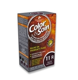 Illustration Color & Soin Coloration Permanente Teinte ROUGE MYRTILLE - 11R