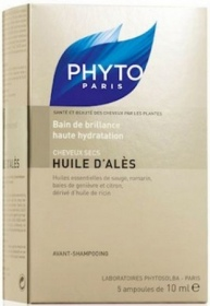 Illustration Huile d'Alès Bain de Brillance - Ampoules 5x10ml