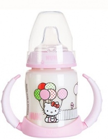 NUK - Tétra Médical - Biberon d'apprentissage Hello Kitty - 150 ml