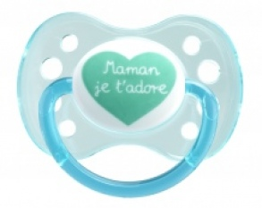 Illustration Sucette 0-6 mois Anatomique Silicone Message Maman x1