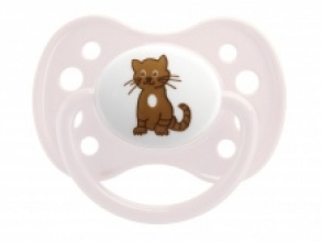 Illustration Sucette 0-6 mois Anatomique Silicone Chat x1