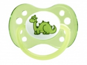 Dodie - Sucette +6 mois Anatomique Silicone Dinosaure x1