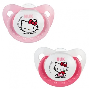 NUK - Sucette Trendline Hello Kitty Taille 1 lot de 2