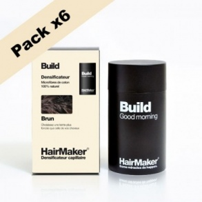 Illustration HairMaker BUILD Densificateur Capillaire pour cheveux Brun - 6x25g