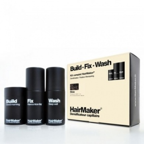 HairMaker - KIT cheveux brun - Densificateur 25g + Spray 100ml + Shampoing 100ml x1