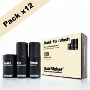 Illustration KIT cheveux châtain clair - Densificateur 25g + Spray 100ml + Shampoing 100ml x12