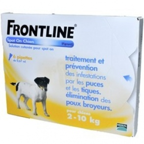 Frontline - Spot-on Chien S  de 2-10 Kg - 6 Pipettes