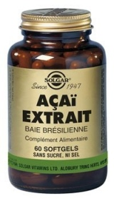 SOLGAR VITAMINS FRANCE - Açaï extrait - 60 softgels