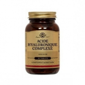 SOLGAR VITAMINS FRANCE - Acide hyaluronique 120 mg - 30 comprimés