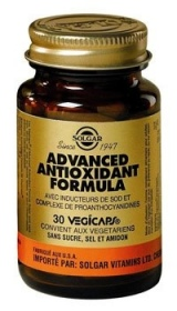 SOLGAR VITAMINS FRANCE - Advanced Antioxydant Formula - 30 gélules