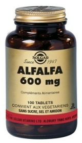 SOLGAR VITAMINS FRANCE - Alfalfa 600 mg - 100 tablets