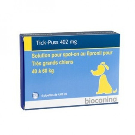 Illustration TickPuss 402 mg Tres Grand Chien Bt 4 pipettes