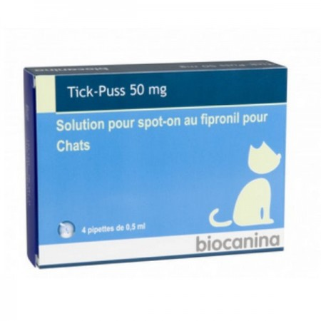 Illustration TickPuss Chat 50 mg BT 4 pipettes