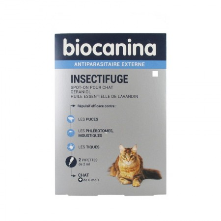 Illustration Insectifuge Naturel Spot On Chat Bt 2 pipettes 2 ml