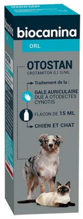 Illustration Otostan Solution Auriculaire Chien et Chats Fl 15 ml