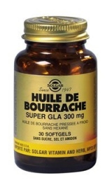 SOLGAR VITAMINS FRANCE - Huile de bourrache Super gla 300 mg - 30 capsules