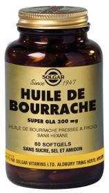 SOLGAR VITAMINS FRANCE - Huile de bourrache Super gla 300 mg - 60 capsules
