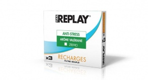 Tag Replay - Tag Replay Recharges pour cigarette électronique - Arôme Valériane Anti-Stress Zéro