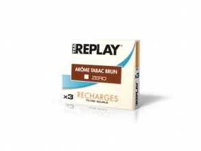 Tag Replay - Tag Replay Recharges pour cigarette électronique - Arôme Tabac brun Zéro