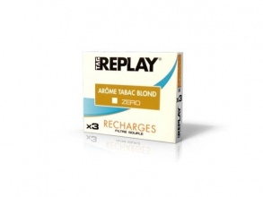 Tag Replay - Tag Replay Recharges pour cigarette électronique - Arôme Tabac blond Zéro