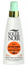 Soleil Noir - Spray Lait fluide faible protection SPF10 - 150 ml