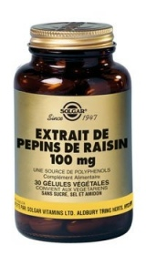 SOLGAR VITAMINS FRANCE - Extrait de Pépins de raisin 100 mg - 30 gélules