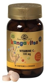 Illustration Kangavites Vitamine C 100 mg arôme naturel orange - 90 comprimés
