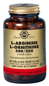 Illustration L- Arginine L- Ornithine 500 mg/250 mg - 50 gélules