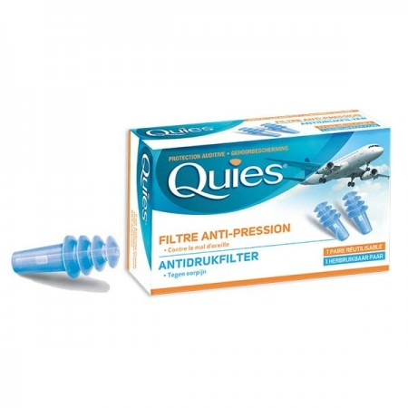 Quies - Protection auditive spécial avion Adulte - 1 paire