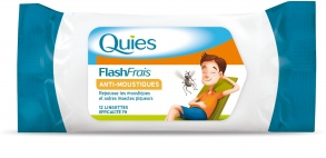 Quies - Flash Frais Anti moustique - 12 lingettes