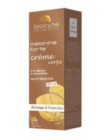 Illustration Mélanine Forte Crème corps Bronzage & Protection SPF50 - 150ml