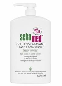 Sebamed - Gel Physio Lavant  face & body wash - 1000m
