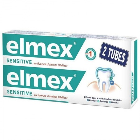 Elmex - Dentifrice Sensitive -  2 tubes de 75ml