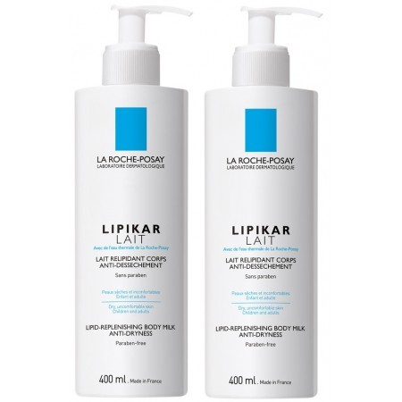 Illustration Lipikar Lait Relipidant Corps Anti-Dessèchement 2x400ml
